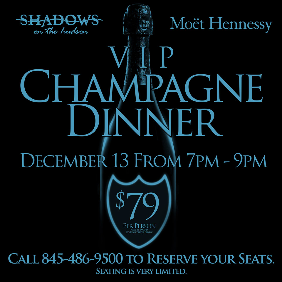 Shadows Exclusive Champagne Dinner